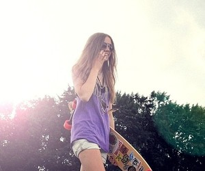 summer, longboard, and Lisaplace image