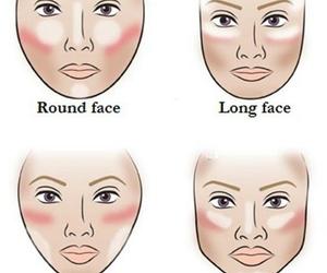makeup, face, and contour image