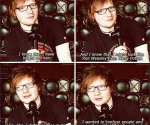 ed sheeran, harry potter, and lol image