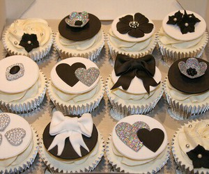 cupcake, food, and black image