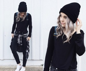 grunge, outfit, and converse image