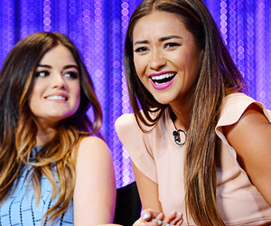 lucy hale, shay mitchell, and ashley benson image