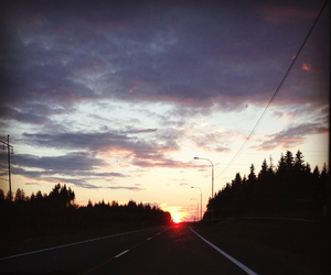 finland, night, and road image