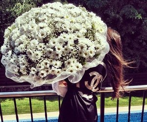 flowers, girl, and chanel image
