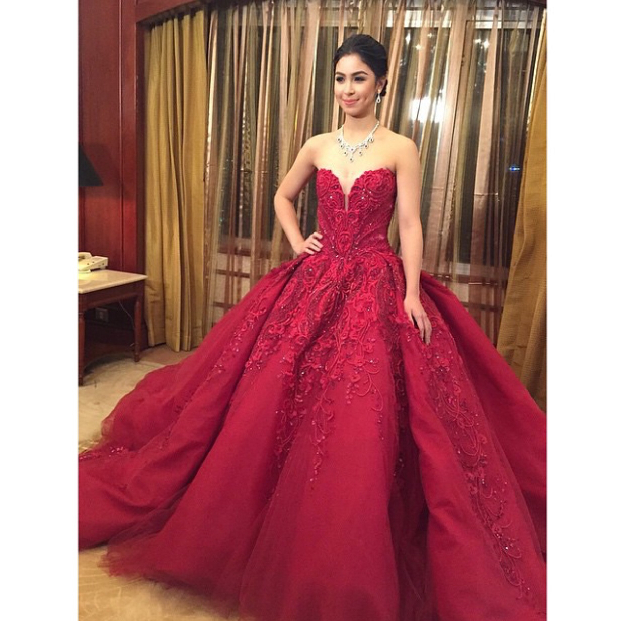 julia barreto debut gown discovered by Nicole Kusumi