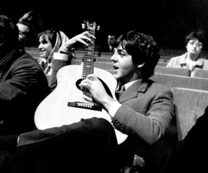 Paul McCartney, the beatles, and guitar image