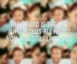 quote, friend, and friendship image