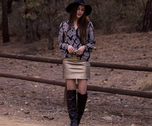 fashion, effortlessly chic, and black floppy hat image
