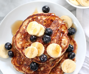 pancakes, food, and banana image