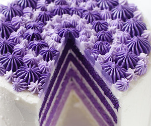 cake, purple, and sweet image