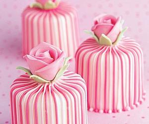 pink, rose, and cake image