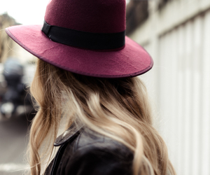 blonde, hair, and hat image