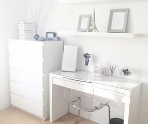 bedroom, white, and girly image