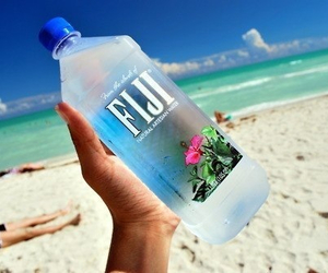 beach, fiji, and water image