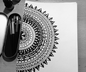 art, black ink, and black and white image