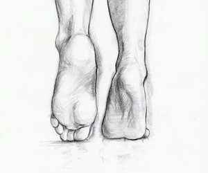 beautiful, feet, and drawing image