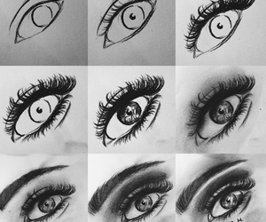 bw, draw, and eye image
