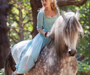 cinderella, horse, and lily james image