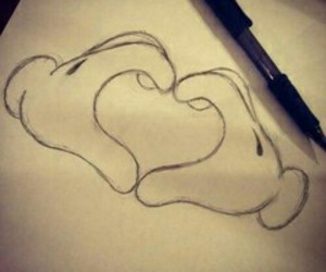 love, heart, and drawing image
