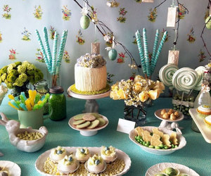 spring table centerpieces, spring party decorations, and summer table decorations image