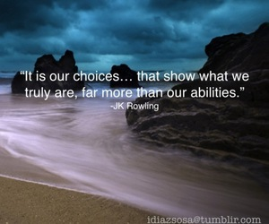 choices, quotes, and dumbledore image