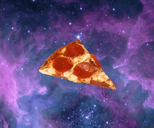 infinity, space, and pizza image