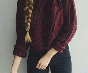 beauty, braid, and simple image