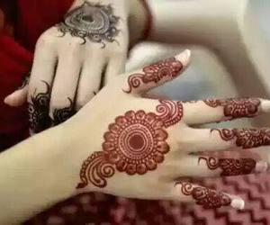 bride, design, and henna image