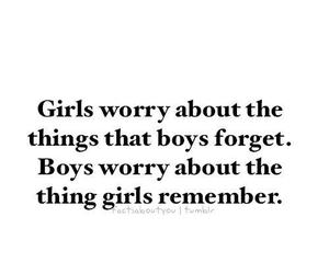 boys, forget, and girls image