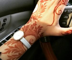 arabic, mehndi, and arabic henna image