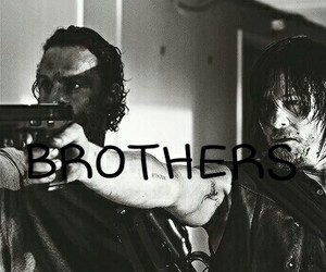 brother, twd, and rick grimes image