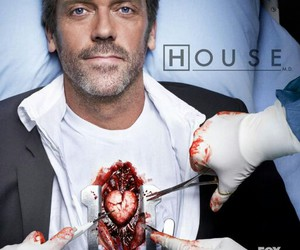 hugh laurie, dr house, and heart image
