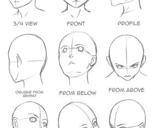 draw, anime, and head image