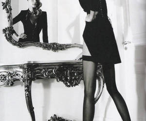 Ana Beatriz Barros, black and white, and Elle image