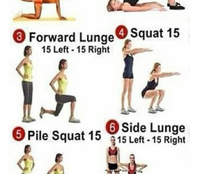 squat, lunges, and donkey kicks image