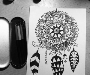 art, draw, and black and white image