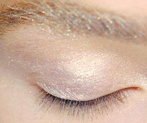 eye, glitter, and girl image