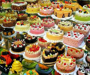 cake, cupcakes, and FRUiTS image