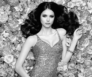 Nina Dobrev, flowers, and the vampire diaries image