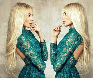 blonde, dress, and beauty image