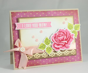 handmade card, mother's day, and love you mom image
