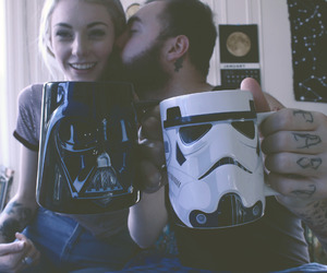 star wars, couple, and love image