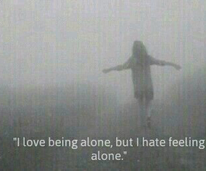 alone, be, and depressive image