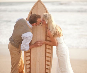 beach, marriage, and beach wedding image