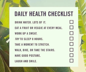 checklist, daily, and fitness image