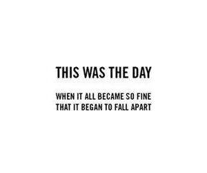 fall apart and text image