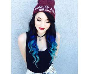 blue hair, alt girl, and grunge image
