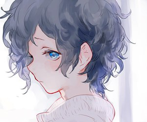 anime and hair image