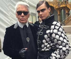 cara delevingne, chanel, and karl lagerfeld image