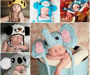 baby, elephant, and panda image